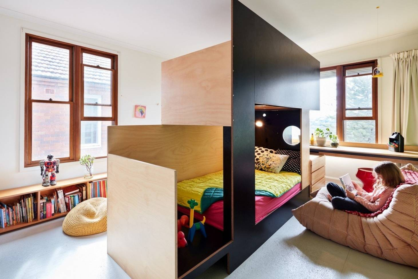 Picture of: Cool Bunk Beds As A Centre Divider Create Two Rooms From One Stuff Co Nz