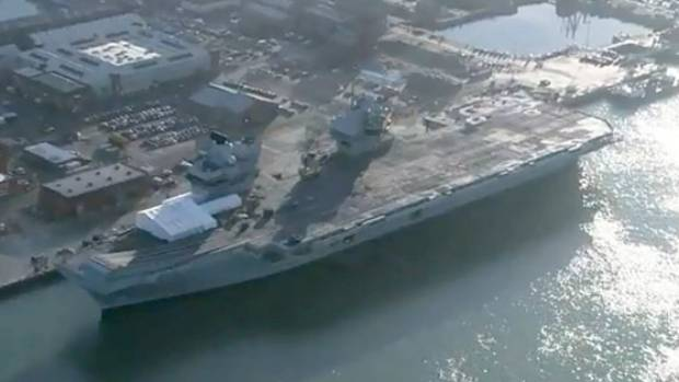HMS Queen Elizabeth: Leak discovered on new £3.1bn aircraft carrier