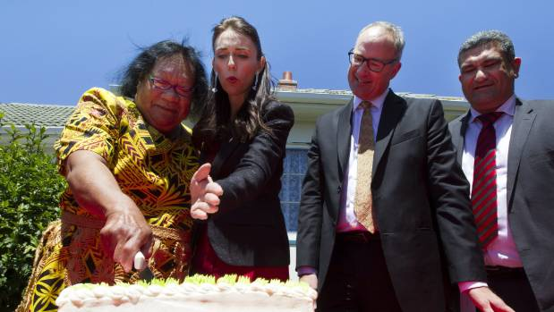 Vinise Nysse cuts a cake celebrating the 80th birthday of her state home. Nysee says the new Labour government makes her ...