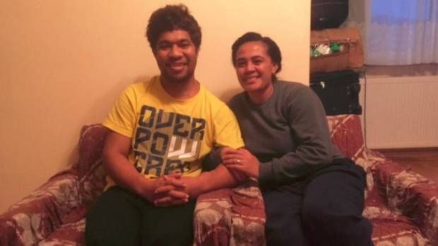 Sione Vaiomounga and his wife are currentlystranded in the remote Romanian town of Baia Mare.