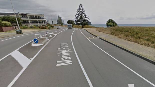 The car came off the road along Marine Parade, between Hart St and Clyde St, Mt Maunganui.