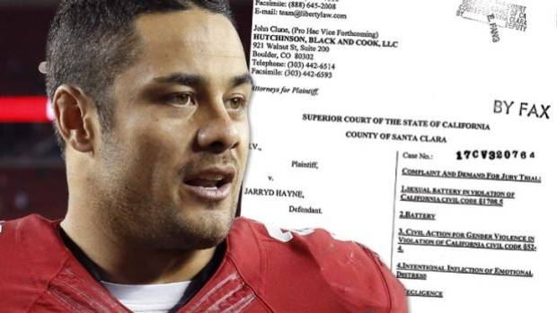 Jarryd Hayne accused of rape in U.S. civil suit