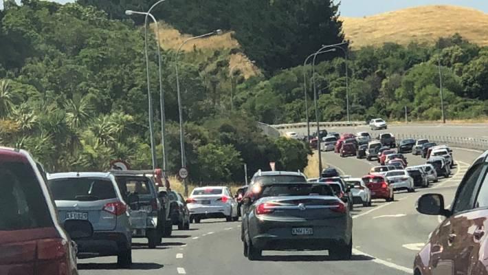 Motorists escaping Wellington for Christmas face long wait