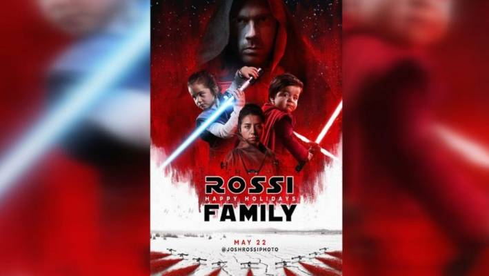 Family Recreates 'Star Wars' Movie Poster As A Christmas