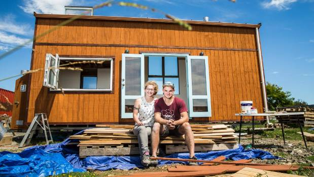 Christoph Riedel and Anna Naygrow built a Tiny House to live in while studying in Christchurch.