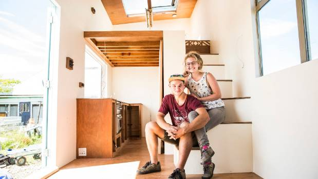 The couple say their tiny house is well insulated and double glazed to withstand the Christchurch winters.