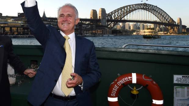 Australian leader Malcolm Turnbull fined for failing to wear lifejacket