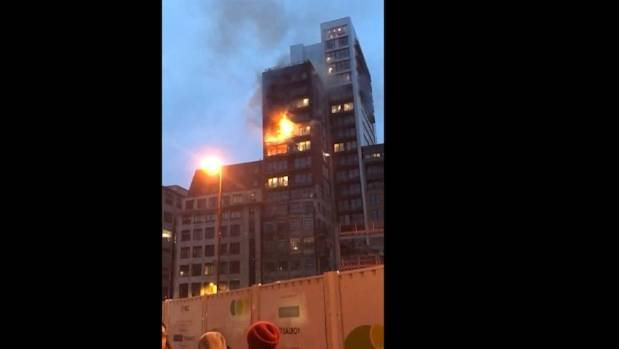 Big blaze at Manchester apartment block