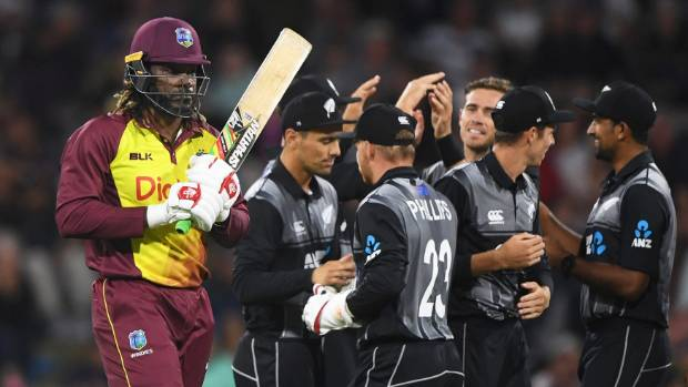 West Indies superstar Chris Gayle hardly fired a shot against the Black Caps.