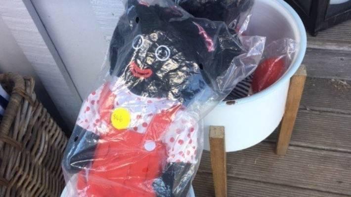 Golliwog dolls for sale at Waiheke Island tourist gift shop