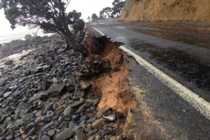 SH25 or Thames Coast Road suffered damage during a summer storm in early January. The road was closed between Thames and ...
