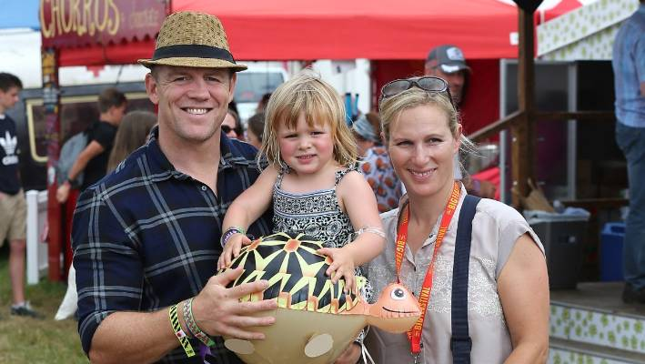 Mike and Zara Tindall with their eldest daughter Mia