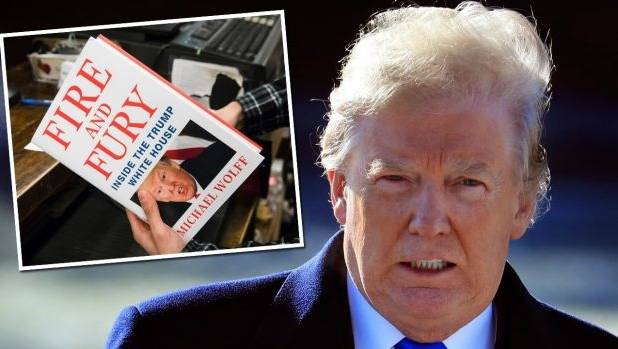 "US President Donald Trump has described the book on his White House administration as ""a work of fiction""."