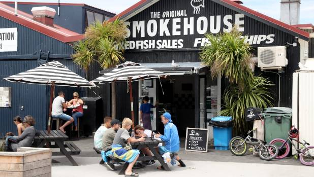 The Mapua Wharf is a busy hub of tasty food outlets and bars.