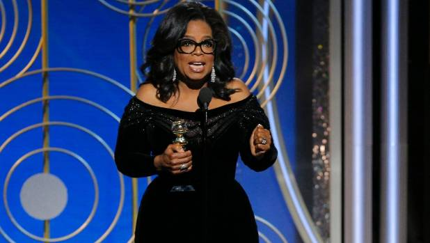 Oprah Winfrey stole the show at Monday's Golden Globes ceremony