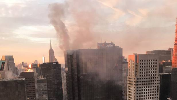 Crews respond to fire on roof of Trump Tower