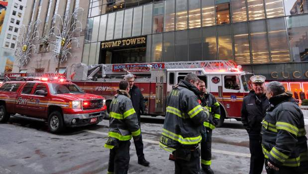 Three injured in fire at Trump Tower