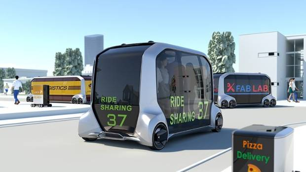 Toyota's Concept Vehicle Is a Self-Driving Store on Wheels