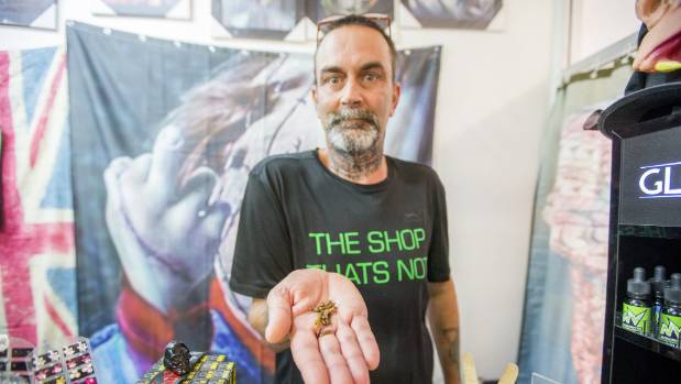 Shop owner Jeremy Claasen was not sure how edible insects would go down in Blenheim.