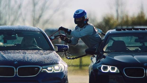 Watch BMW break a drifting record thanks to car-to-car refueling