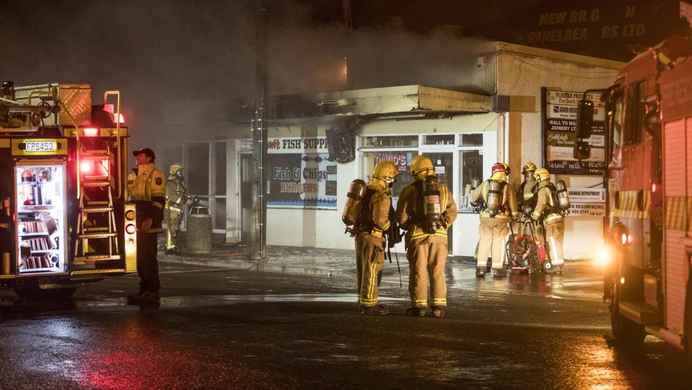 Early Morning Blaze At Christchurch Fish And Chip Shop