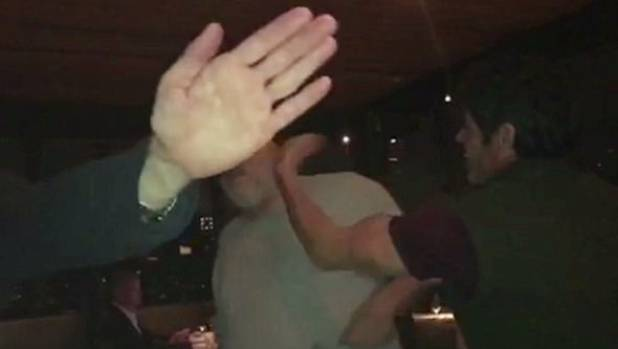 Harvey Weinstein attacked in restaurant