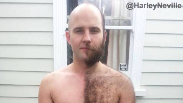 new zealand man shaves half his body gets on the ellen degeneres