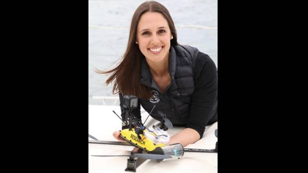 Vanessa Pirotta,a researcher pioneering the use of drones for whale research.