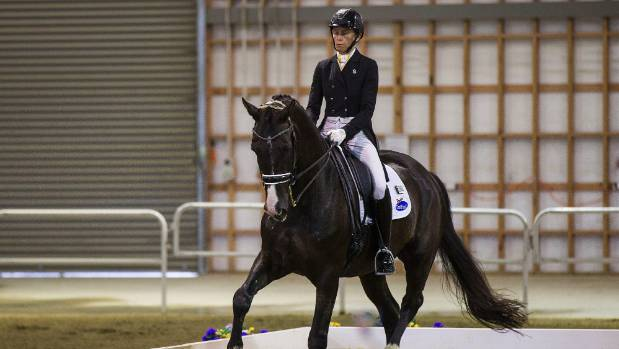 A dressage competitor riding at Manfeild Park in 2017. The venue has lost The National Horse and Pony show, due to the ...