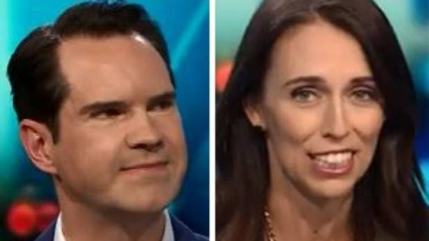 Jimmy Carr calls Jacinda Ardern 'the opposite of Trump'