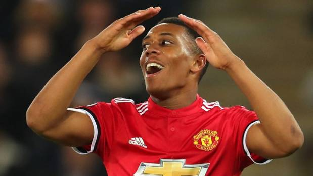 Anthony Martial scored in the Manchester United victory