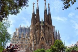 La Sagrada Familia in Barcelona, designed by Antoni Gaudi