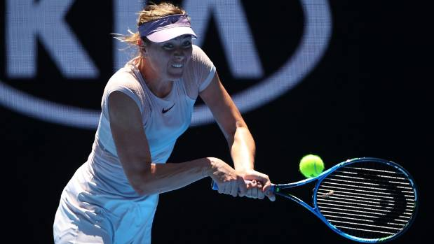 Sharapova wins on return to Australian Open