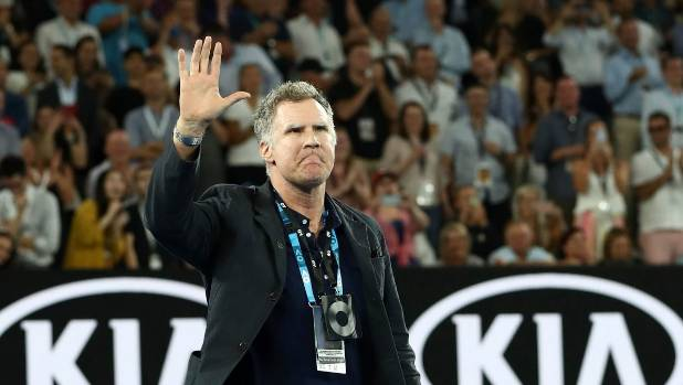 Will Ferrell interviews Roger Federer after Australian Open win