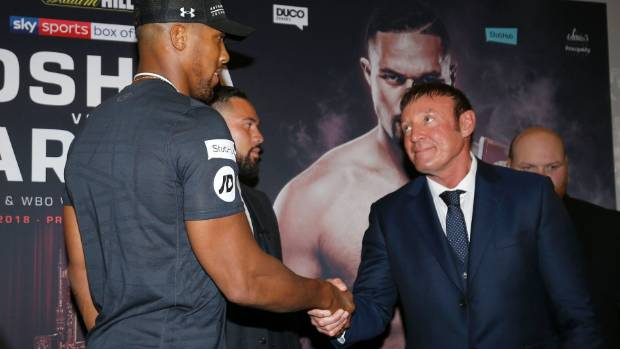 Anthony Joshua dismisses 'fake news' about having a weak chin