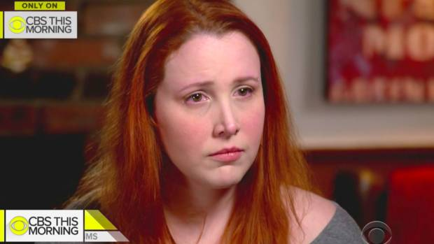 Dylan Farrow tearfully expresses her