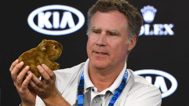 Comedian Will Ferrell brings laughs to Australian Open with bizarre press conference