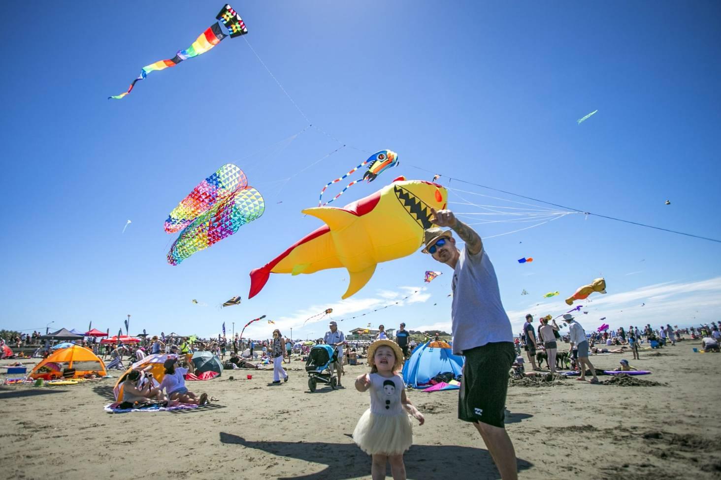 130b8e3f7 Summer scorcher for Kite Day-goers at New Brighton Beach   Stuff.co.nz
