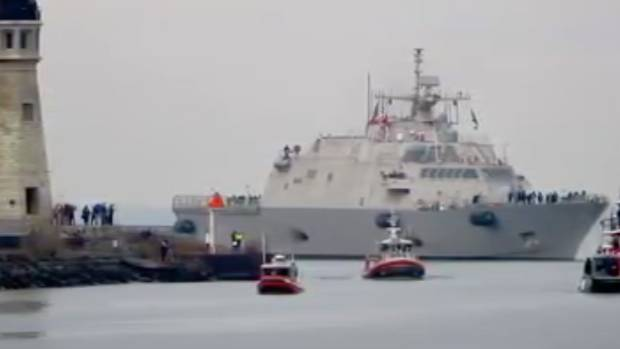New Navy Warship Will Be Stuck in Ice Until Spring