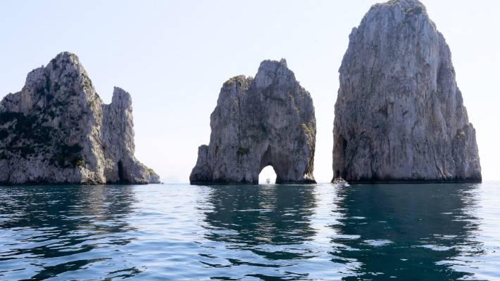 5e61cb7a708e Rock formations off the coast of Capri.