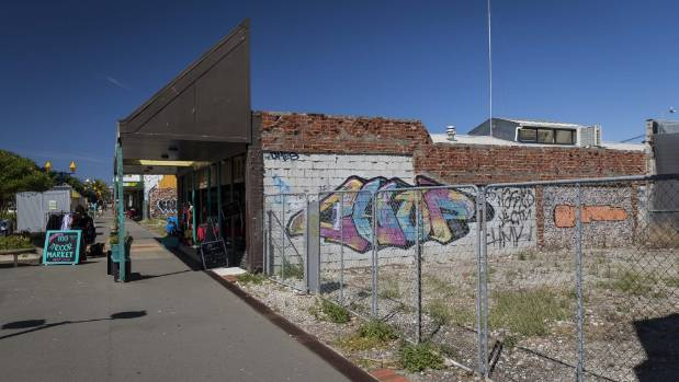 The local business association is looking at ways to improve the look of bare sites.