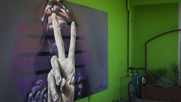 New art in Carnaby Lane.