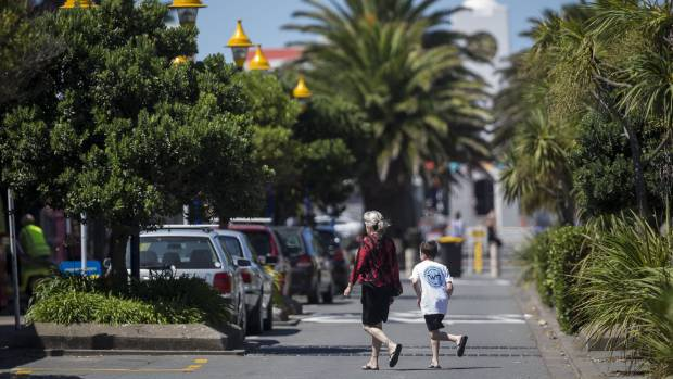 A new roading plan will extend Oram Ave to provide sheltered shopping space, but this has not yet been budgeted for.
