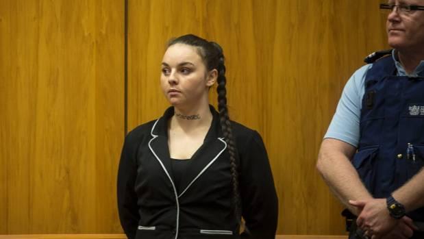Zariah Jae Samson, 25, at her sentencing for manslaughter last year.
