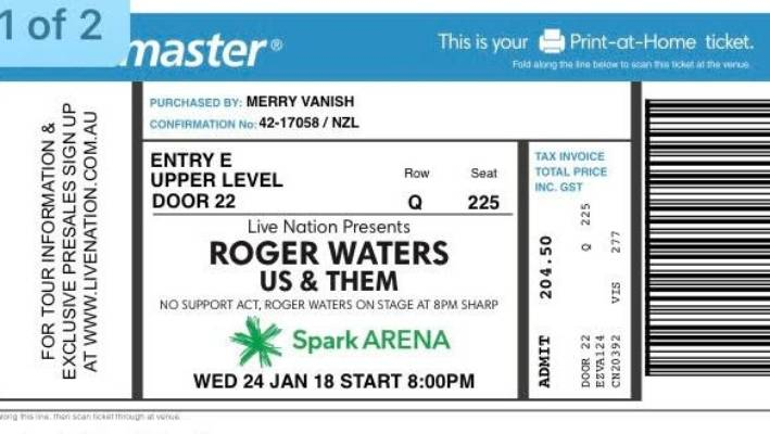 Roger Waters fans the latest victims of Viagogo | Stuff co nz