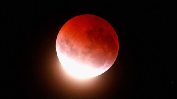 The awesome sight of a lunar eclipse over Auckland in April 2015. Alas, there's a risk cloudy skies will obscure ...