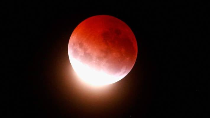 giant red moon tonight - photo #6