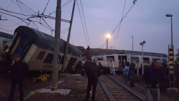 The train was full of commuters at the time of the crash