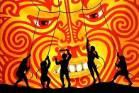 A scene from Maui tames the sun - Tamanui Te Ra, part of The Awesome Adventures of Modern Maui from Te Rehia theatre ...