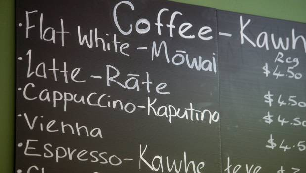 Flat white? Could that be someone struggling with the surge of te reo Maori in everyday Kiwi life?